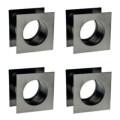 Hülsen aus Metall mit Viereckigem querschnitt - Nickel (4 Stück)  + 32,67€